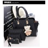 Jual Tas Import Wanita 4In1 Bab255 Black Tas Fashion