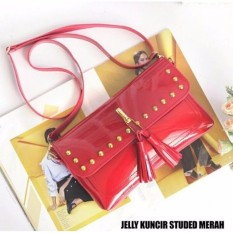 Amelia Olshop - Tas Jelly Kuncir Studed - Merah