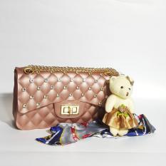 Review Tas Jelly Matte Mini Bag Jely Manik Manik Jeli Import Selempang Rantai Goll Free Boneka Dan Syall Tas Fashion Import Di Banten