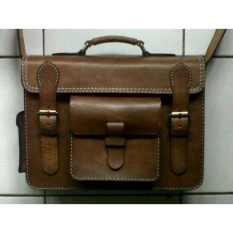 Promo Tas Kulit Selempang Pria Leather Bag Handmade Akhir Tahun