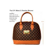 tas kw wanita handbag lv alma damier brown