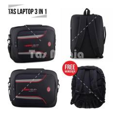 Tas Laptop Gress GR 10 - Highland Laptop Bag + FREE Raincover - Black Tas Pria Tas Kerja Tas Messenger Tas Slempang Crossbody Man Tas Fashion Pria