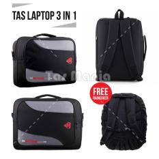 Tas Laptop Polo Classic 3in1 - Washington DC Laptop Bag + FREE Raincover -  Black Tas 68e06ee880