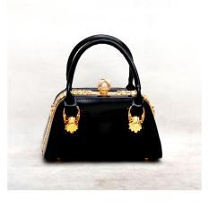 Tas Pesta Wanita Glossy Handbag TPA- 20132 Hitam ORI
