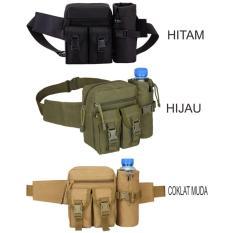 Tas Pinggang Dengan Tempat Botol Tactical Army B321 - Hijau