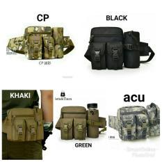 Model Tas Pinggang Tactical Army Dengan Tempat Botol Acu Terbaru