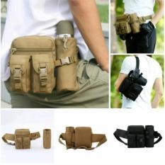 Tas Pinggang Tactical Army Dengan Tempat Botol Cs Tpb 01Bk Black Original