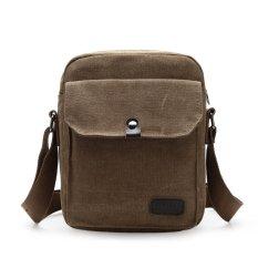 Tas Pria Import Batam Branded Model Terbaru D6668 Men Messenger Shoulder Outdoor Travel Bag- Khakis