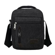 Promo Tas Pria D7007 Men Messenger Shoulder Outdoor Travel Bag Black Santorini