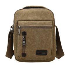 Tas Pria Import Batam Branded Model Terbaru D7007 Men Messenger Shoulder Outdoor Travel Bag - Khakis