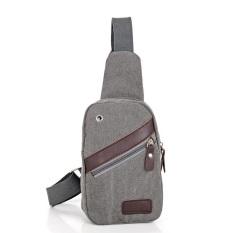Review Toko Tas Pria Impor Import Selempang Slempang Kanvas Canvas Slingbag Sling Bag Ch3 Grey Online