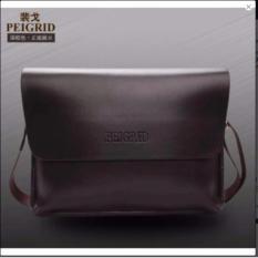 Harga Tas Pria Multifungsi Kulit Selempang Sling Bag Messenger Crossbody Peigrid Brown Merk Aiueo