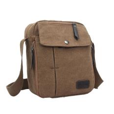 Promo Tas Pria Slingbag Import Impor Vintage Kanvas Canvas Militer Selempang Slempang Messenger Shoulder Bag Coklat Tas
