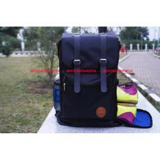 Harga Tas Punggung Backpack Tas Ransel Hitam Tas Sporty Plus Rain Bag Yang Murah