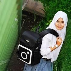 Tas Punggung Ransel Backpack Sekolah Aaron Rumah Warna - Instagram