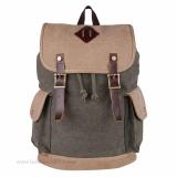 Toko Tas Punggung Ransel Backpack Tas Sekolah Travel Bag 3P Kanvas Backpack 2 Color Army Murah Indonesia