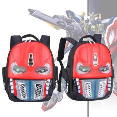 Tips Beli Tas Punggung Ransel Backpack Tas Sekolah Travel Bag Anak 3P Robot Red
