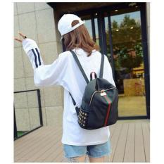 Cara Beli Tas Punggung Travel Korean Bag Wanita Import Sc043 Black