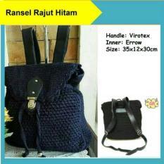 Tas Rajut Ransel Wanita Backpack Fashion Nilon Handmade Asli Jogja