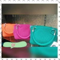 Tas Rajut Wanita Polos Bahan Nilon Murah Berkualitas Handbag Fashion Handmade Asli Jogja