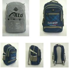 Tas Ransel Alto -005 Old Blue + Waterproof Raincoat