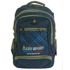 Tas Ransel Alto JV-005 Old Blue + Waterproof Raincoat