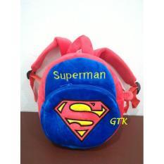 Tas Ransel Anak Cowok Boneka Karakter Superhero Superman - 2 Rest 25Cm - 6Ab393