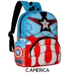Ulasan Mengenai Tas Ransel Anak Sekolah Karakter Kartun Litwind Captain America Tas Anak Tk Sd