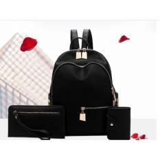 Review Tas Ransel Backpack 3In1 Wanita Import Murah Terbaru Cp 04 Black Tas Fashion Import