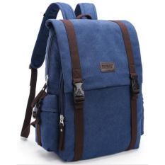 Review Toko Tas Ransel Backpack Canvas Dark Blue Online