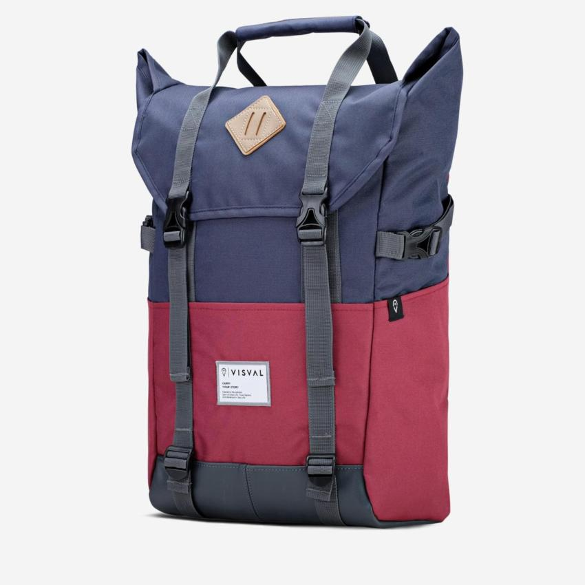 Jual Tas Ransel Backpack Laptop Visval Zoom Navy Maroon Visval Bag Branded