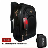 Tas Ransel Pria Backpack Polo Ace Casual 4018 Zv Black Original Waterproof Raincover Terbaru