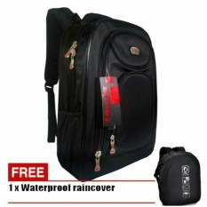 Jual Tas Ransel Pria Backpack Polo Ace Casual 4018 Zv Black Original Waterproof Raincover Termurah