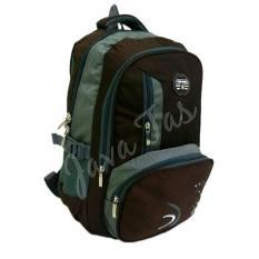 Tas Ransel backpack Polo Army JV_01 coklat +  weather shield