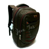 Diskon Tas Ransel Backpack Polo Enter Jv 7381 Coklat Emboss Waterproof Raincover