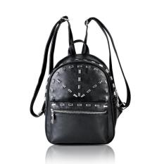 Tas Ransel Backpack Wanita Studded 93361 Black Import Gaul