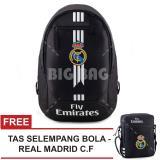 Beli Tas Ransel Bola Pria Real Madrid Laptop Backpack Men Soccer Editions Hitam Free Tas Selempang Real Madrid Hitam Pakai Kartu Kredit