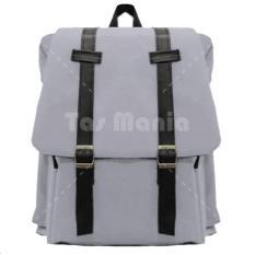 Tas Ransel Braun Fox - Korea M2M Tas Laptop Backpack - Grey Tas Pria Tas Wanita Tas Sekolah Dailypack Tas Fashion Pria