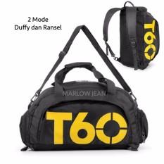 Jual Tas Ransel Dan Duffel Gym Bag Tas Gym Tas Olahraga Hitam Branded Original