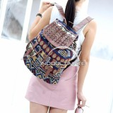Ultimate Tas Backpack Unisex Pria Wanita Punggung Ransel Kuliah Fancy Etnic Korean Bag Js 018 8 Model Dua Kantong Brown Black Diskon Indonesia