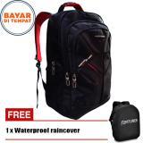 Diskon Tas Ransel Pria Fortuner Backpack Embos 18 Inchi 4012 18 Zv Polyester Nylon Original Black Raincover