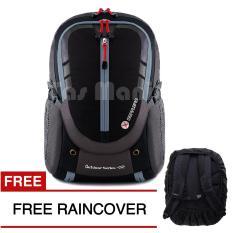 Tas Ransel Gear Bag - Cyborg X23 Tas Laptop Backpack - Black Grey + FREE Raincover Tas Pria Tas Sekolah Tas Kerja Tas Fashion Pria