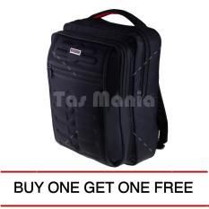 Tas Ransel Gress Emboss Tas Laptop Backpack - Hitam ( BUY ONE GET ONE ) Tas Pria Tas Sekolah Tas Kerja Dailypack Tas Fashion Pria
