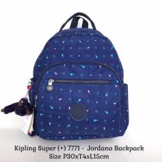 Tas Ransel Import Kipling Backpack Jordano 7771 - Blue Motif