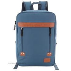 Tas Ransel Import / Tas Punggung / Ransel / Backpack / Tas Sekolah / Travel Bag ( 3P Fashion Import BackPack model 2 Resleting ) - Blue