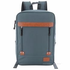 Tas Ransel Import / Tas Punggung / Ransel / Backpack / Tas Sekolah / Travel Bag ( 3P Fashion Import BackPack model 2 Resleting ) - Blue Denim
