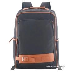 Tas Ransel Import / Tas Punggung / Ransel / Backpack / Tas Sekolah / Travel Bag ( 3P Fashion Import BackPack model Kancing Bawah ) - Black