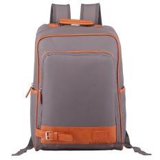 Ulasan Tas Ransel Import Tas Punggung Ransel Backpack Tas Sekolah Travel Bag 3P Fashion Import Backpack Model Kancing Bawah Grey