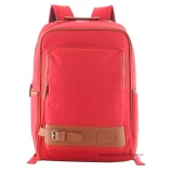 Tas Ransel Import Tas Punggung Ransel Backpack Tas Sekolah Travel Bag 3P Fashion Import Backpack Model Kancing Bawah Red Asli