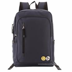 Tas Ransel Import / Tas Punggung / Ransel / Backpack / Tas Sekolah / Travel Bag ( 3P Fashion Import BackPack Model Resleting Samping ) - Blue